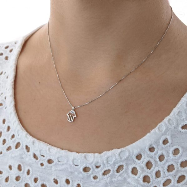 collar hamnsa plata micropave cuello
