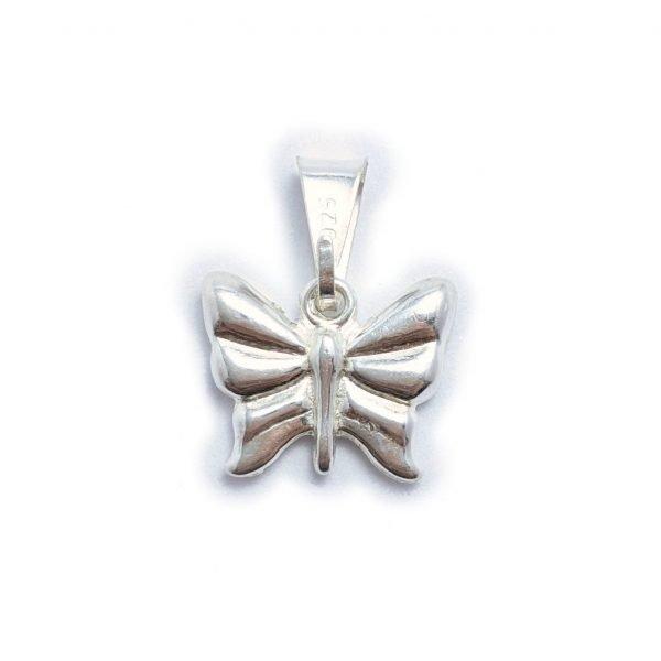 dije mariposa de plata