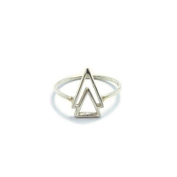 Anillo doble triángulo