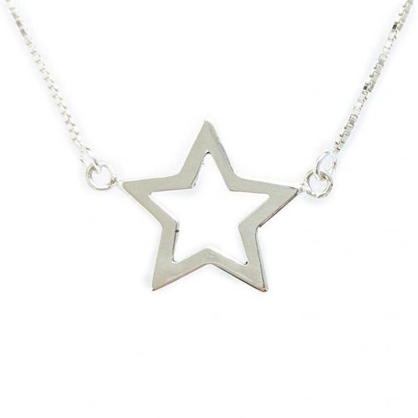 Collar estrella calada