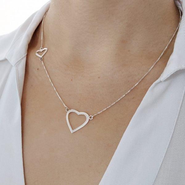 Collar corazón con corazón cuello 2
