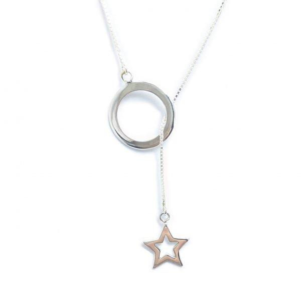 Corbatero Estrella Calada en Círculo