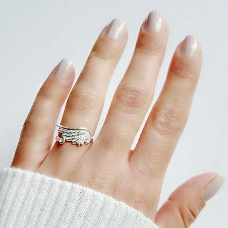 anillo ala con punto