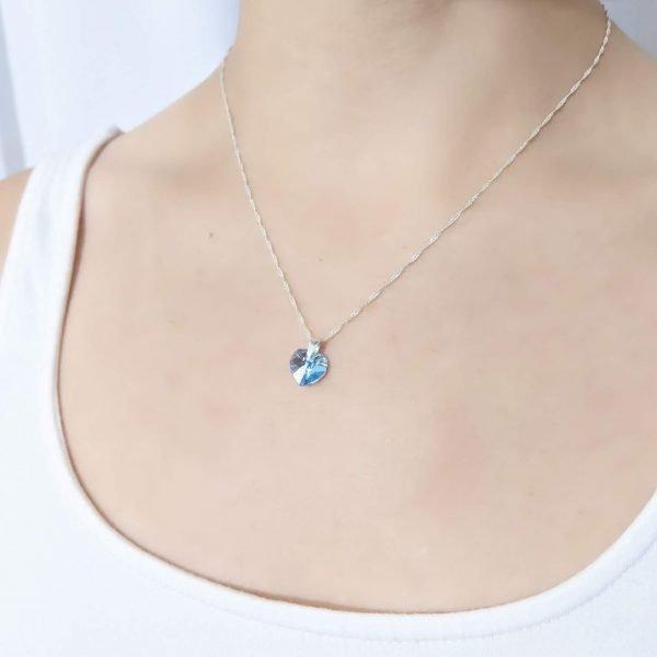 Collar Swarovski Corazón Vitrail Light
