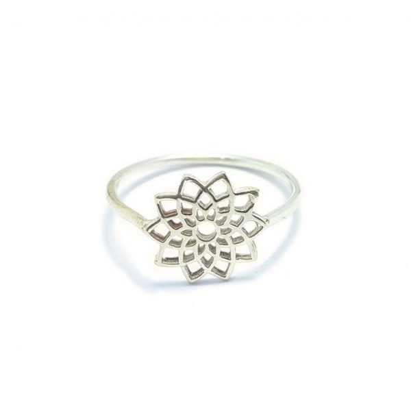 anillo mandala plata