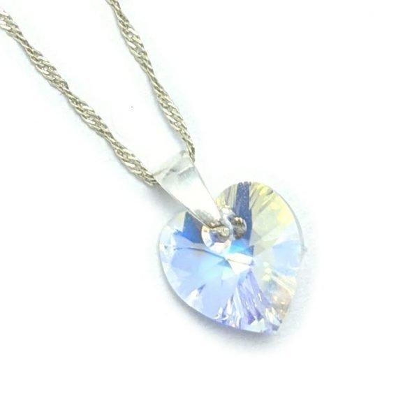 collar Cristal sw corazon Aurora Boreal