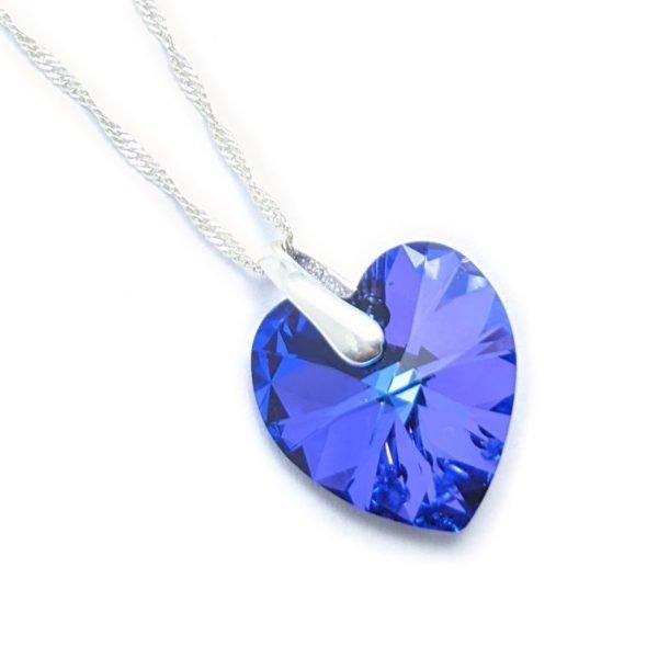 collar swarovski corazón heliotrope