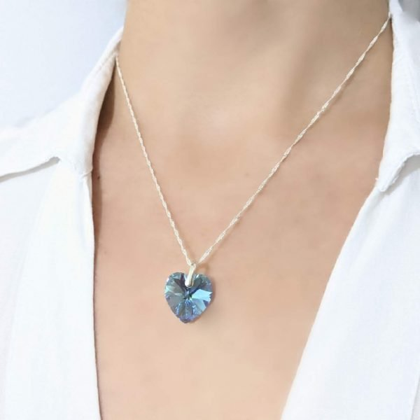 collar swarovski corazon aquamarine 14mm 1