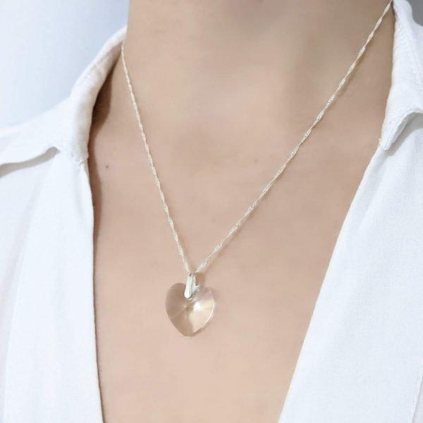 Collar Cristal Swarovski Corazón 14mm