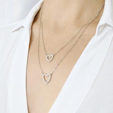 collar doble corazon