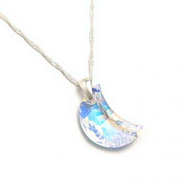 Collar Cristal swarovski luna aurora boreal