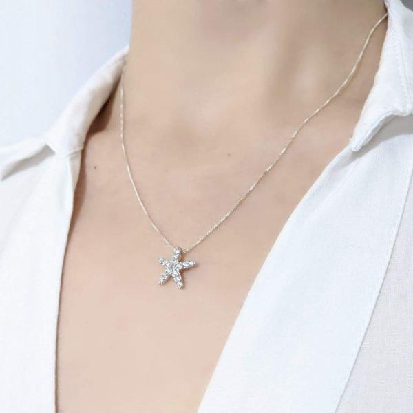 Collar estrella de mar cristal