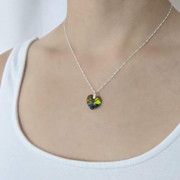 collar swarovski corazon Vitrail Medium
