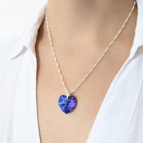 collar corazon Heliotrope 18mm