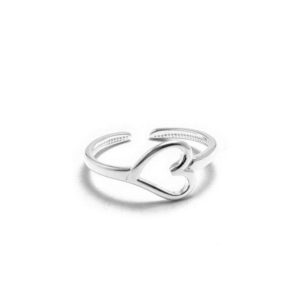anillo midi corazon