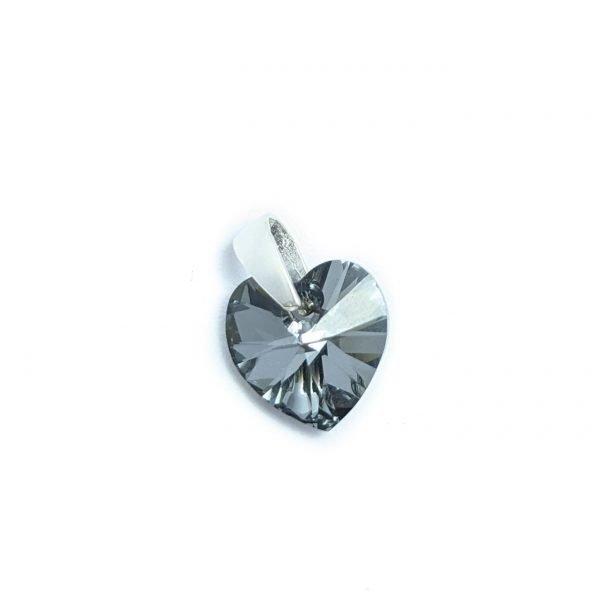 dije swarovski corazon silver night 10mm