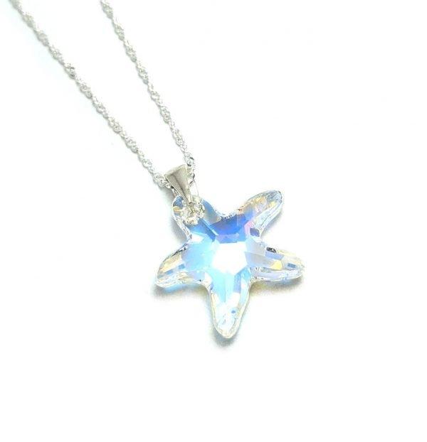 Collar Swarovski estrella de mar aurora boreal