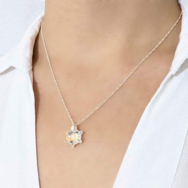 Cadena Collar Swarovski Edelweiss 14m Plata 925