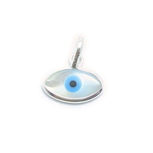 Dije ojo turco ovalado 14mm