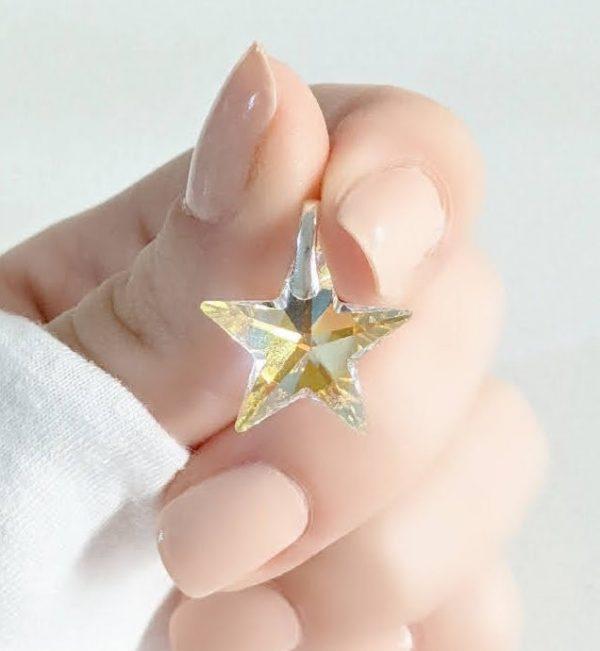 Dije Swarovski estrella 18mm
