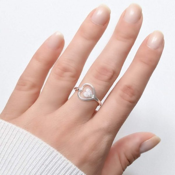 Anillo corazon mini cristal