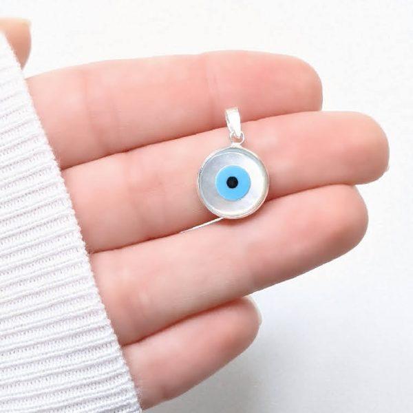 Dije ojo turco nacar 13mm