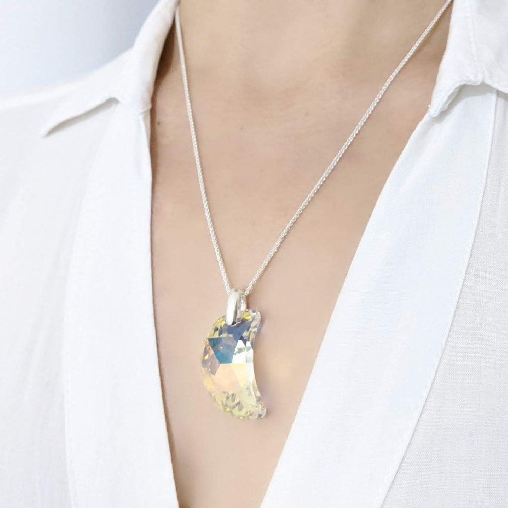 Collar Swarovski Luna 30mm Plata 925