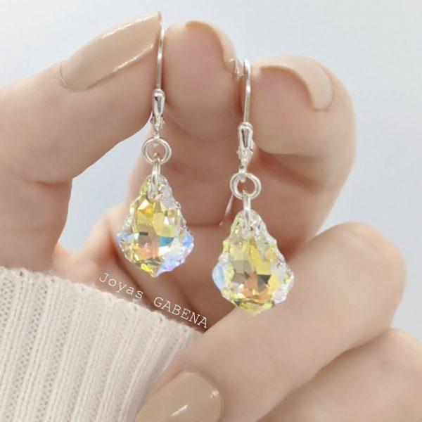 aros cristal swarovski barroco
