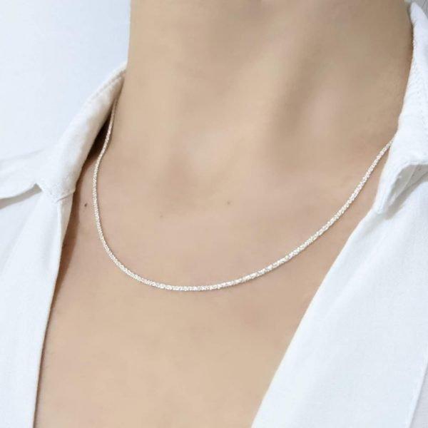 Cadena Diamantada Plata 925