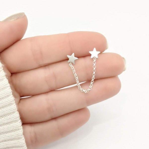 Aro Estrellas Encadenadas Plata 925