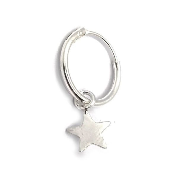 aro argolla estrella solitario